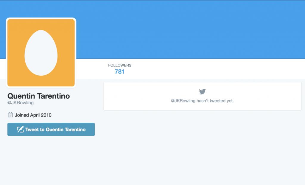 Unused Twitter handle