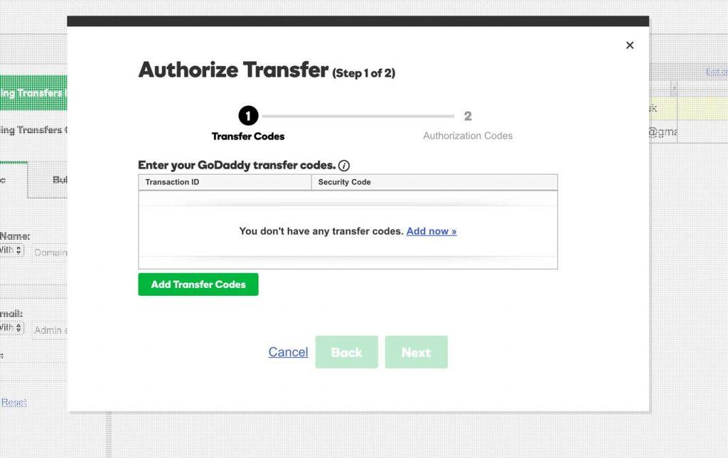 Authorise transfer - GD