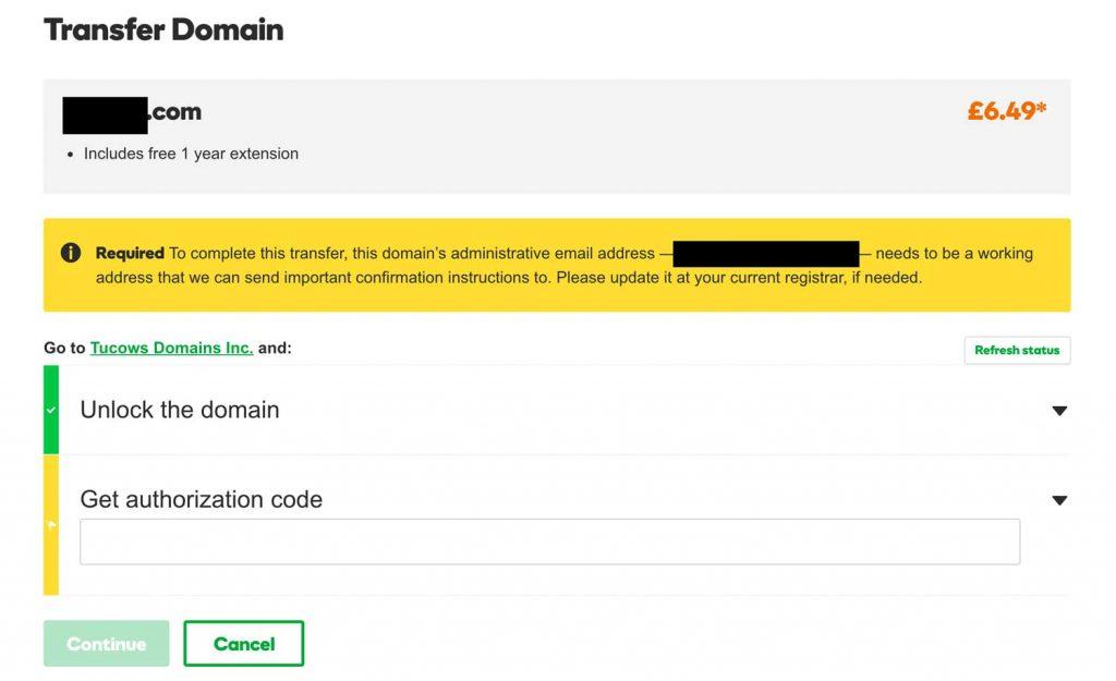 Transfer domain - GD