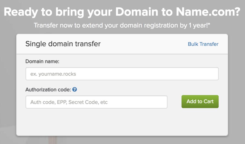 Name.com transfer