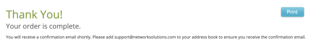 Thank You: Network Solutions
