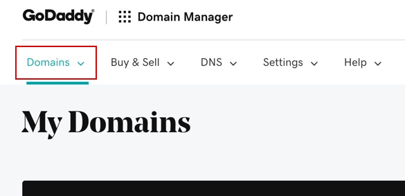 GoDaddy - domains
