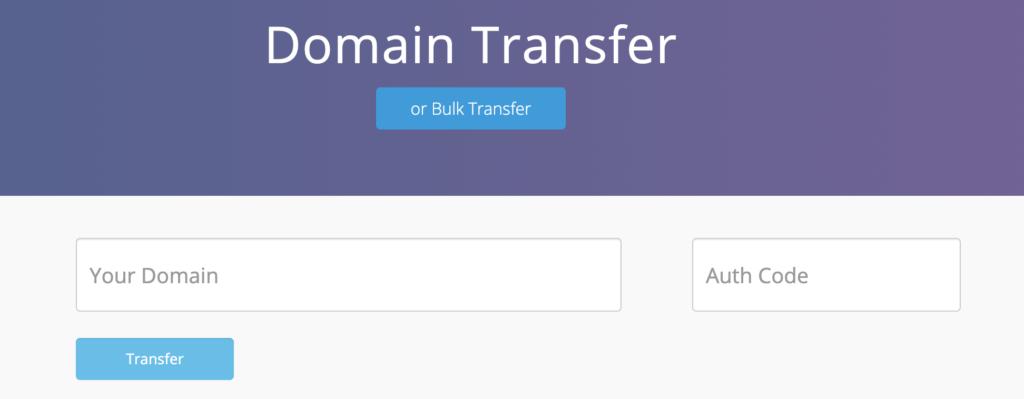 Dynadot - transfer page