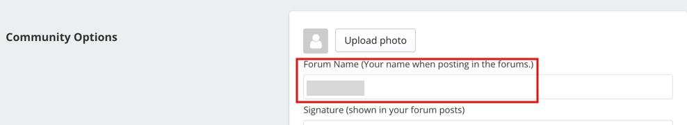 Forum name