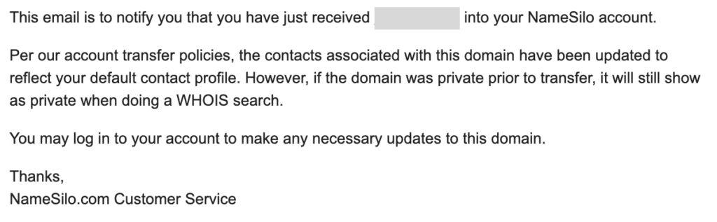 Namesilo Email